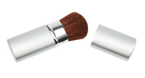 Fantasia 3312 - Pennello retraibile viso, custodia in metallo, colore: argento, lunghezza 10,5 cm
