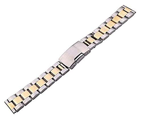 Beapet Watch Strap Solid Stainless Steel Watch Band Bracelet 18mm 20mm 22mm 24mm Gold Silver Black Watchbands Accessories (Color : Gold, Size : 20mm)