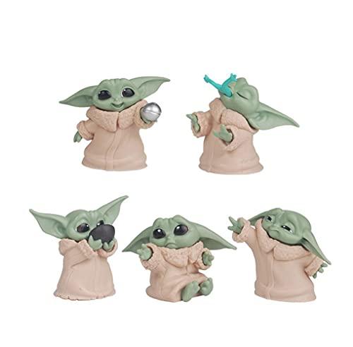 The Children Yoda Action Figure , 5 Pcs 2.2-Inch Children Yoda Action FigurecYoda Toy , Children Yoda Action Toys Yoda Figuras Hot Kids Toys.