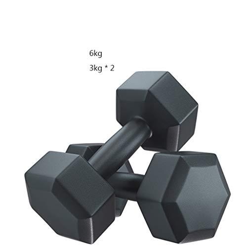 Negro hexagonal con mancuernas Gimnasio Dedicado fijo muscular mancuernas de los hombres de brazo del entrenamiento de fitness con mancuernas Pesas Barra de carga, equipo de la aptitud de los aeróbico