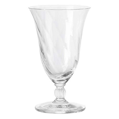 Leonardo Volterra Wasser-Glas, Trink-Becher aus Glas, spülmaschinengeeignetes Getränke-Glas mit Stiel, 6er Set, 270 ml, 020766