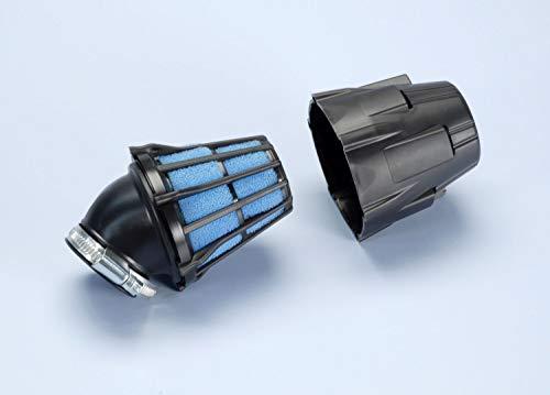 Polini filtro dell'aria da 37mm, in plastica, con tappo, inclinato a 30°
