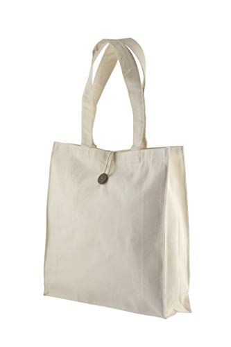 Jute & Co. Sef de 3 Bolsas de Dim. 37 x 37 x 10 cm, 100% algodón Lienzo, algodón Natural, Talla única