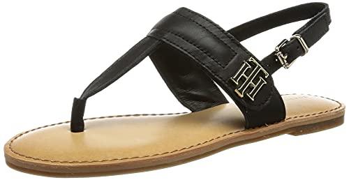 Tommy Hilfiger Hardware TH Flat Leather Sandal, Plate...