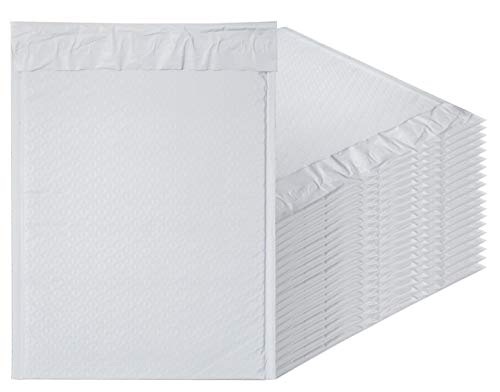 AMZ Supply Poly Bubble mailers 9.5 x 13.5 Padded envelopes 9 1/2 x 13 1/2 Pack of 20 Poly envelopes with Peel and Seal. White Bubble envelopes for mailing, Shipping, Packing.
