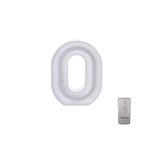 Koperras 10 Zahlen Brief Lichter Led Batterie Usb Dual Use Mit Fernbedienung Chip Heiratsantrag Geständnis Geburtstag Dekoration Geschenk
