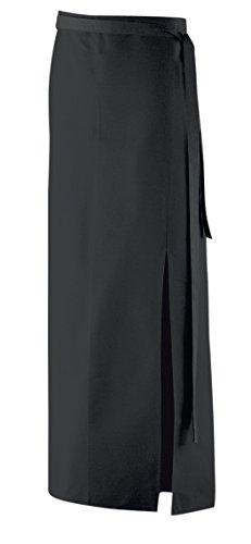 Exner Bistroschürze mit Schlitz Modell 105, 100 x 100cm (schwarz)