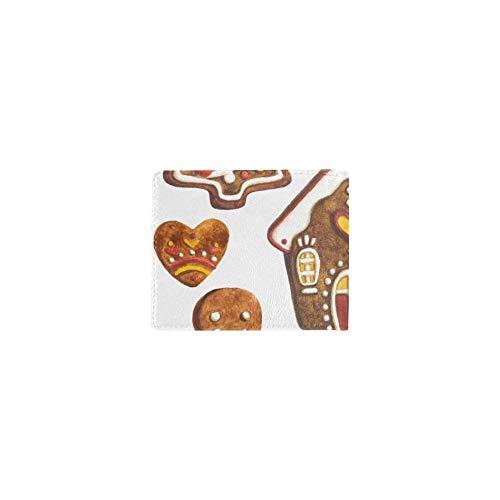 Lebkuchenplätzchen Süßer Keks Kühle Leder Visitenkarte Münze Id Beutel Halter Reise Clutch Geldbörse Geldscheinklammer Brieftasche Fall Für Mädchen Männer Und Frauen Vordere Tasche Scheckheft