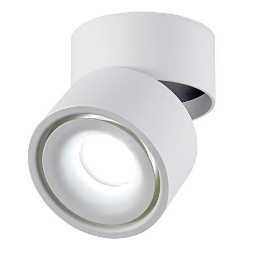Dr.lazy 10W LED Aufbauleuchte Deckenleuchte,Deckenspots, wandleuchten,Deckenfluter,Deckenstrahler,DeckenLampe,Deckenbeleuchtung,Falten Drehen Aufputz Deckenleuchte,Aluminium,10x10x10CM (Weiß-6000K)