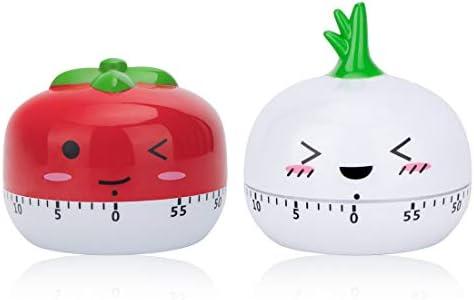 peinat Kitchen Timer 60 Minutes Mechanical Timer Cute Vegetables Wind Up Timer No Batteries product image