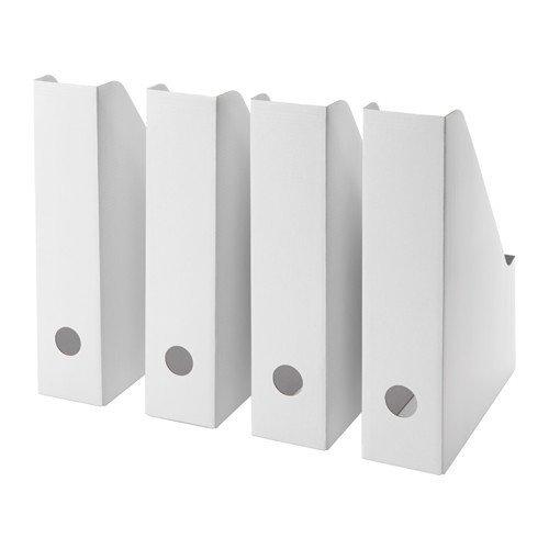 Ikea Fluns - Revistero (4 unidades), color blanco