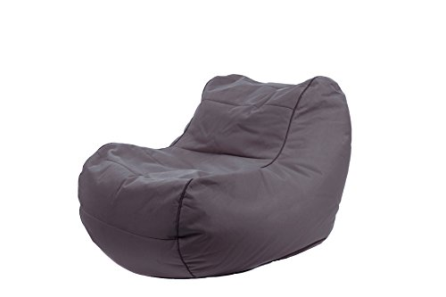 Jumbo Bag 29152-07 Fauteuil Design Chilly Bean Polyester Anthracite 105 x 75 x 70 cm
