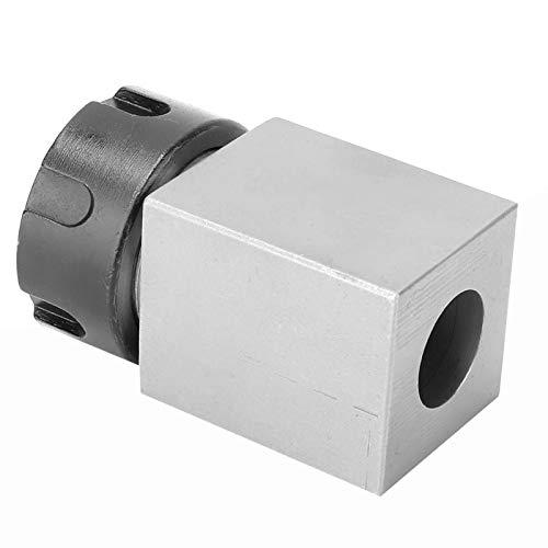 Bloque de pinza, ER25 Portabrocas Muelle de pinza Estructura fuerte Bloque de pinza cuadrada, Industria para máquinas Máquina de grabado de torno CNC(Square handle)
