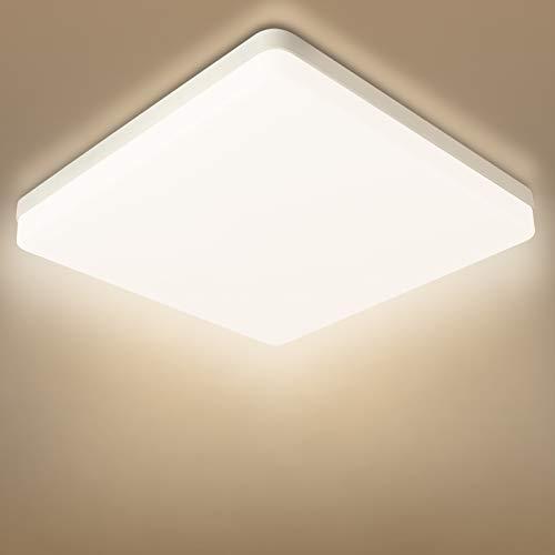 Combuh Plafón LED 48W 4320Lm Fácil de Instalar Modernos Lampara de Techo para Dormitorios Salones Cocina Blanco Natural 4500K Cuadrado Ø30*30 * 4CM