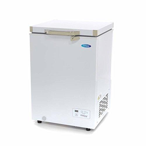 Maxima Gastro Gefriertruhe Digital - 93 l - -24 bis -14 °C - mit 6 Rollen - 210 Watt
