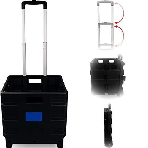 Stimo Transport Trolley klappbar bis 25kg Einkaufstrolley Einkaufswagen Klappbox Transportwagen Trolley