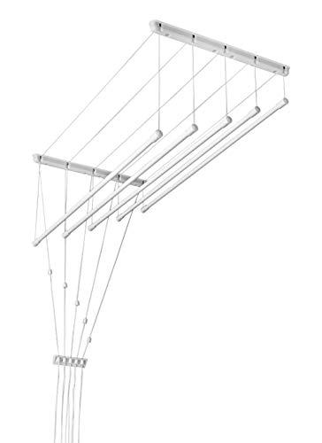Deckentrockner 120 cm x 5 verstellbare Wäschestangen …