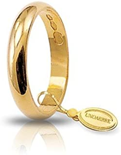 Fede Matrimoniale Classica Unoaerre Oro Giallo Gr.3 Mm.3,4