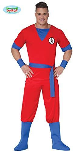 Generique - Rotes Manga-Kämpfer Kostüm für Herren XL (54-56)