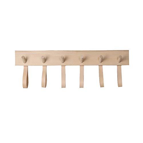 cmxdz Einfache Wandhaken kreative Türgarderobe Holzfarbe (Size : 6hook)