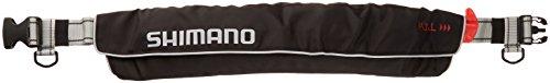 シマノ(SHIMANO) ライフジャケット ベルト 自動膨張 VF-052K 釣り 救命胴衣 ブラック(国土交通省認定品) フ...