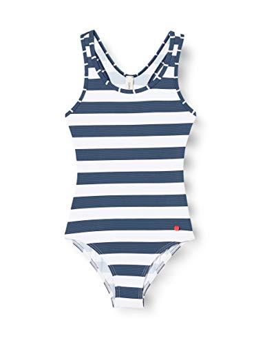 ESPRIT Mädchen North Beach YG NOOS Swimsuit Badeanzug, Blau (405 Dark Blue), 140/146