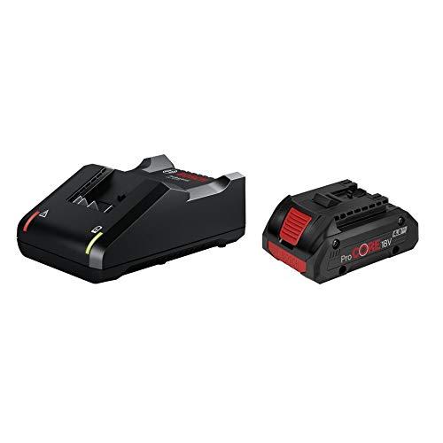 bosch 1600A01U7U Starter-Set, 1 Akku ProCORE18V 4.0 Ah, Schnellladegerät GAL 18V-40 Professional