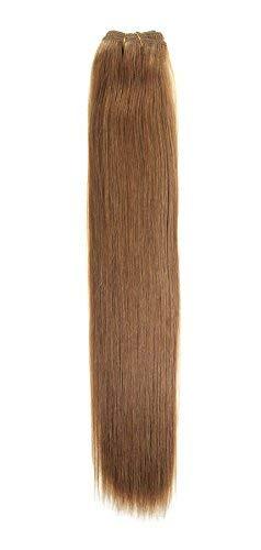 Euro soyeux tissage | Extensions de cheveux humains | 45,7 cm | Caramel Brun (12) American Pride