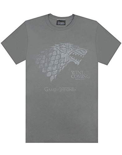 Official Game Of Thrones Stark Winter Is Coming Men's T-Shirt (L)