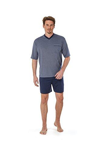Betz 2 teiliger Herren Shorty Schlafanzug Pyjama kurz Farbe: Denim blau Größen: 48-56 Größe 48