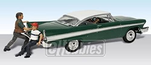 Shove It or Leave It 1950's Late Plymouth Car w Figures N Scale Woodland by Woodland Scenics