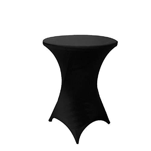 SINSSOWL 10 manteles elásticos de licra para mesa de cóctel para mesa de bar seca de alta poseur, boda, evento, fiesta, decoración, negro, Ø80 cm
