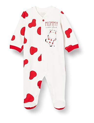 Chicco Tutina con Apertura Frontale Pigiamino per Bambino e Neonato, Bianco e Rosso, 056 Unisex-Bimbi