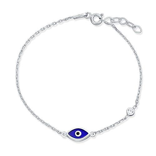 Türkische Minimalistische Einfache Auge Charm Armband Für Teen Für Frauen Zirkonia Cz 925 Sterling Silber Extender