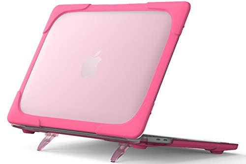 """Capa ProCase MacBook Pro 13 polegadas versão 2020 A2289/A2251, capa protetora de camada dupla fina e resistente com suporte dobrável para Apple MacBook Pro Retina de 13 polegadas com Touch ID, Macbook Pro 13"""" 2020, Rosered"""