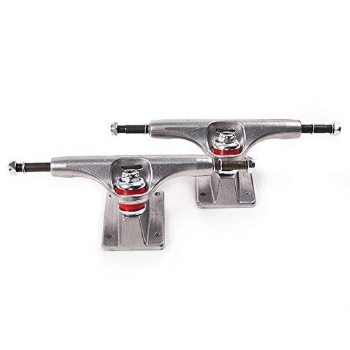 HFXZ2018 1 Paar Skateboard Trucks, Carbon-Stahl Aluminium Schraube Hohl Bracket Durable Standard-poliert Geeignet für Kinder Erwachsene Skateboard Skate Decks,5.25in