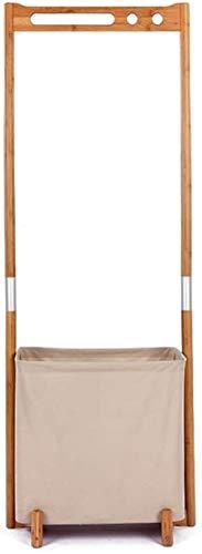 SYXYSM Capa de pie Piso de pie Capa de pie Bambú Madera Multi propósito Simple guardarropa Abrigo bastidores Armario Organizador