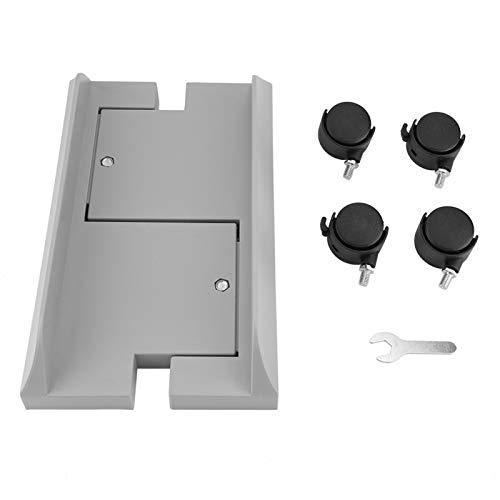 Tenedor de la Caja del Ordenador, Soporte desprendible de la computadora Central de Escritorio con el Freno para el hogar(Blanco)