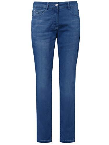 BASLER Damen Jeans mit dekorativen Stickereien und Ziersteinen
