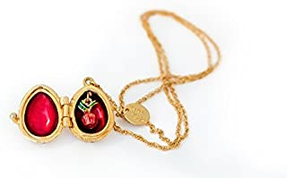 Keren Kopal Pink Pendant Necklace with an Apple Inside Fabrege Styled Decorated with Swarovski Crystals for Her