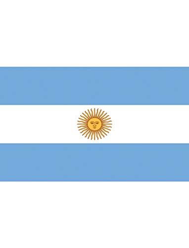 "TrendClub100® Fahne Flagge ""Argentinien Argentina AR"" - 150x90 cm / 90x150cm"