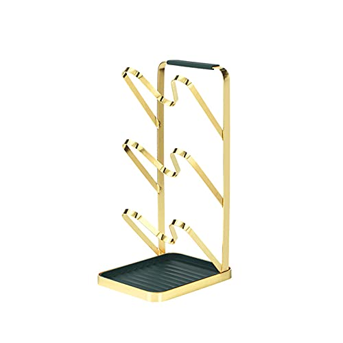 N\B Pot Lid Holder Pan Lid Organizer Rack, Kitchen Cupboard Organiser,3-Layer Height Shelf,U-Shaped Groove To Prevent Falling,with Detachable Drip Tray