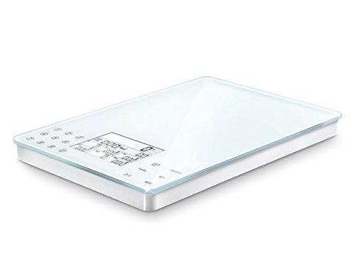 Soehnle Food Control Easy - Báscula de Cocina de Vidrio y plástico, Color Blanco