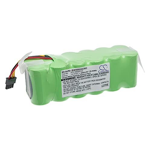 vhbw Batería recargable compatible con Ariete 271211AR0, 271212AL, 271212ALAL0, 271212ALBE aspiradora, robot limpieza (2000 mAh, 14,4 V, NiMH)