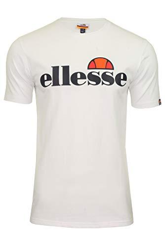 Ellesse SL Prado T-Shirt Camiseta, Hombre, White, L