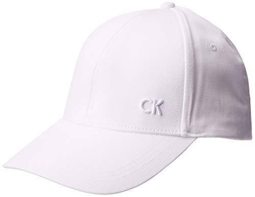 Calvin Klein CK cap Berretto da Baseball, Bianco (White 101), Unica (Taglia Produttore: OS) Uomo