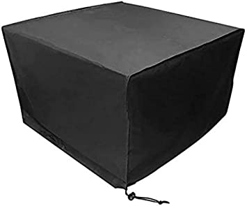 95.3 * 63.8 * 39.4in PESTORY 210D Heavy Anti Dust UV Rain Cover Outdoor Furniture Cover Waterproof Dustproof Cube Table Chair Cover