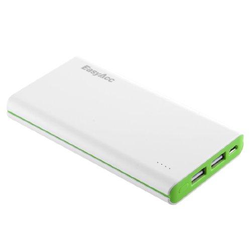EasyAcc Claccic 10000mAh Power Bank Kompakt Externer Akku Portable Ladegerät für iPhone Samsung Smartphone Tablets - Weiss und Grün