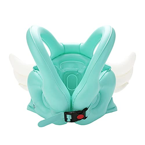 OOTD Chaleco Flotante Inflable para Niños, PVC 28x60cm Natación Natación Buirnido Bandera Angel Forma Diseño Libre Actividad Seguridad Piscina Soporte Baby Swim Aprendizaje Accesorios