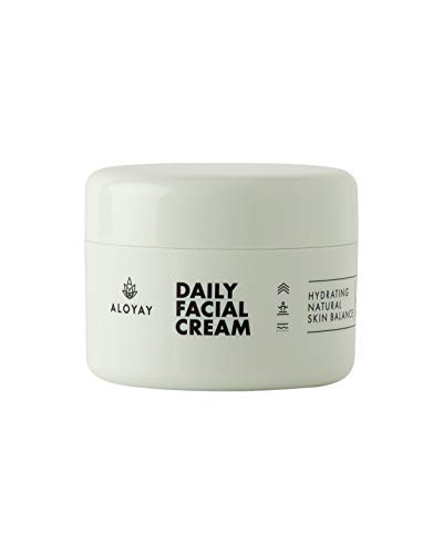 ALOYAY ® Daily Facial Cream - Tagescreme mit Hyaluron auf Bio Aloe Vera Basis - Naturkosmetik 100% Code Check Clean (Daily Facial Cream)